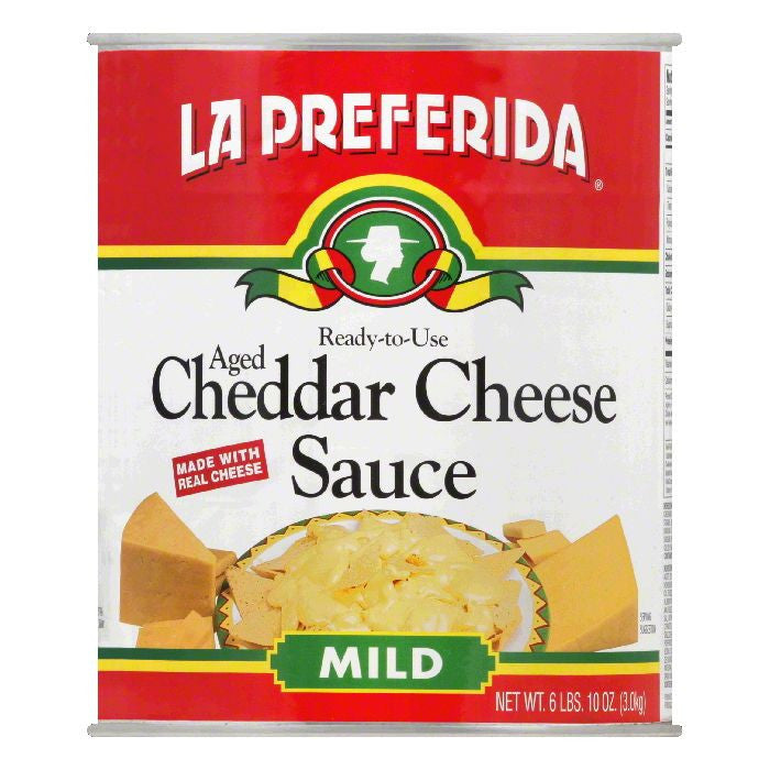La Preferida Mild Aged Cheddar Cheese Sauce, 106 Oz (Pack of 6)