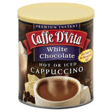 Caffe D Vita White Chocolate Hot or Iced Cappuccino, 1 Lb (Pack of 6)