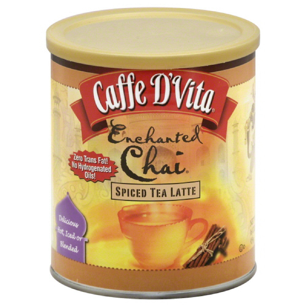 Caffe D Vita Spiced Enchanted Chai Tea Latte, 16 Oz (Pack of 6)