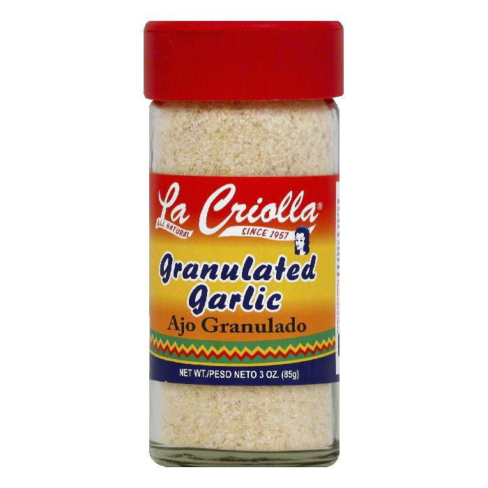 La Criolla Granulated Garlic, 3 OZ (Pack of 12)