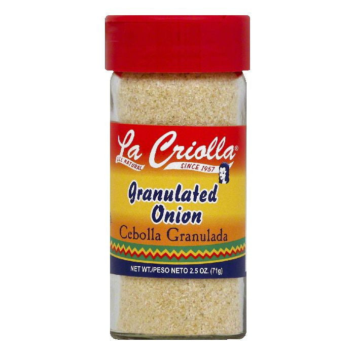 La Criolla Granulated Onion, 2.5 OZ (Pack of 12)