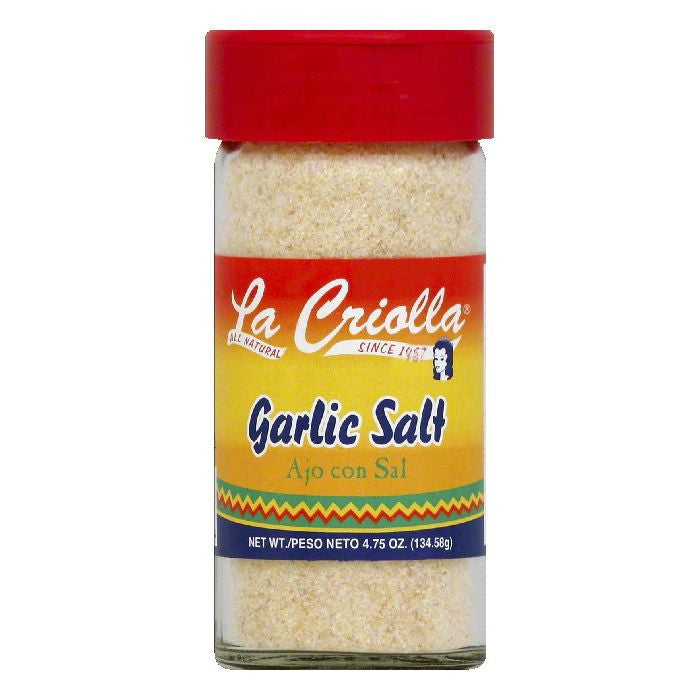 La Criolla Garlic Salt, 4.75 OZ (Pack of 12)