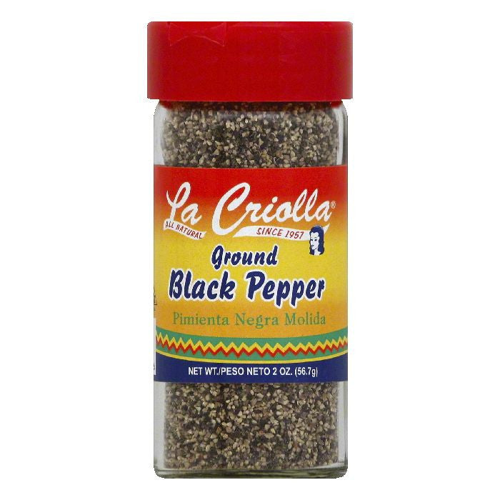 La Criolla Ground Black Pepper, 2 OZ (Pack of 12)