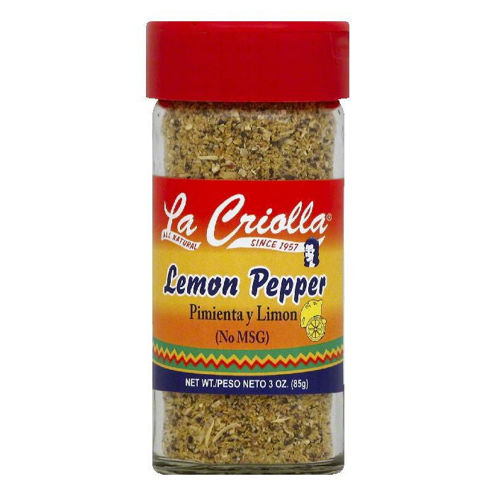 La Criolla Lemon Pepper, 3 OZ (Pack of 12)