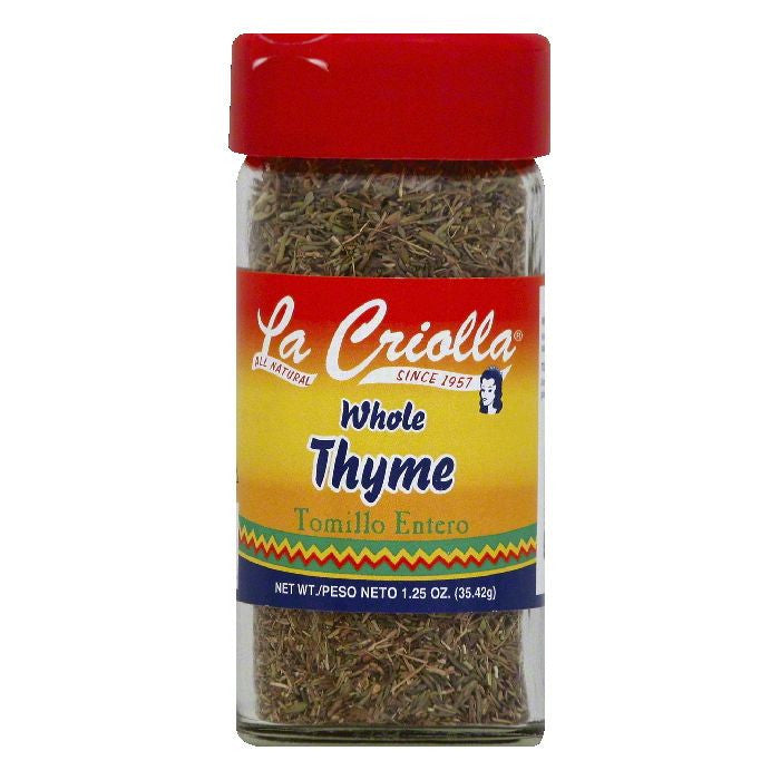 La Criolla Whole Thyme, 1.25 OZ (Pack of 12)