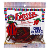 Fiesta Extra Fancy Chile de Arbol, 1 OZ (Pack of 12)