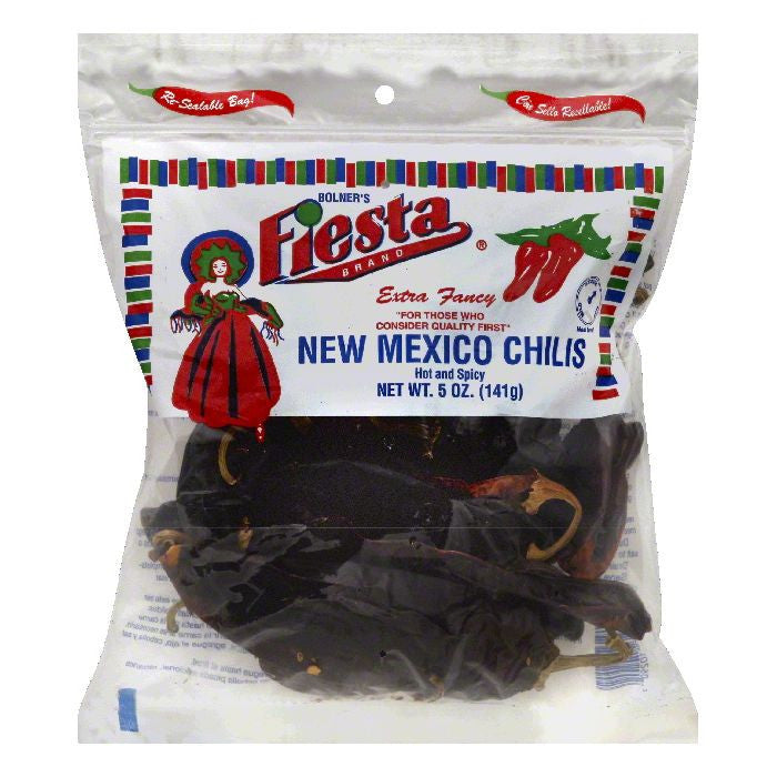 Fiesta Hot and Spicy Extra Fancy New Mexico Chilis, 5 OZ (Pack of 12)