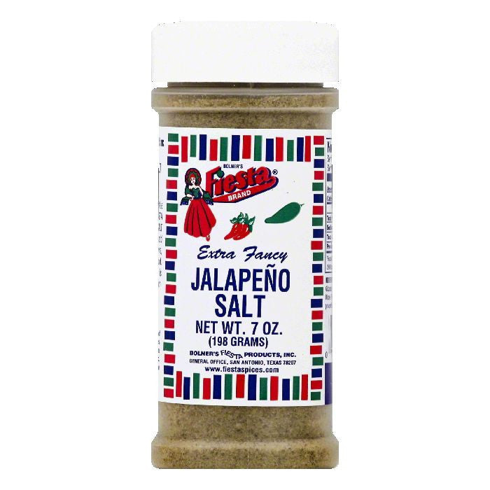 Fiesta Extra Fancy Jalapeno Salt, 7 OZ (Pack of 6)
