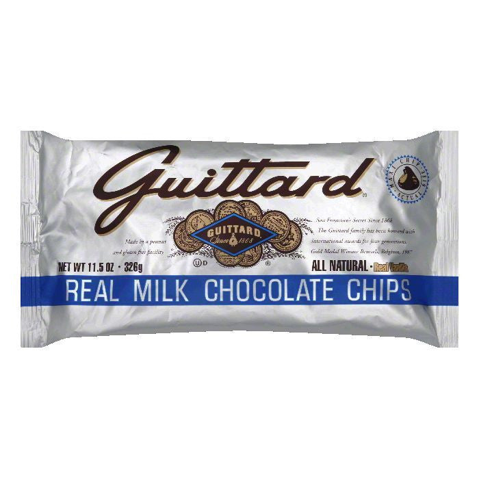 Guittard Milk Chocolate Maxi Chips, 11.5 OZ (Pack of 12)