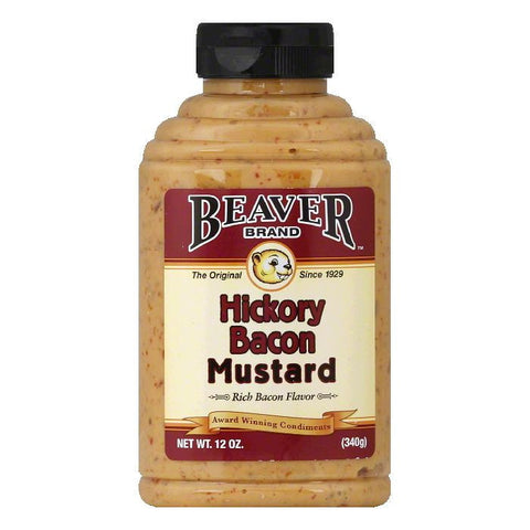 Beaver Brand Hickory Bacon Mustard, 12 Oz (Pack of 6)