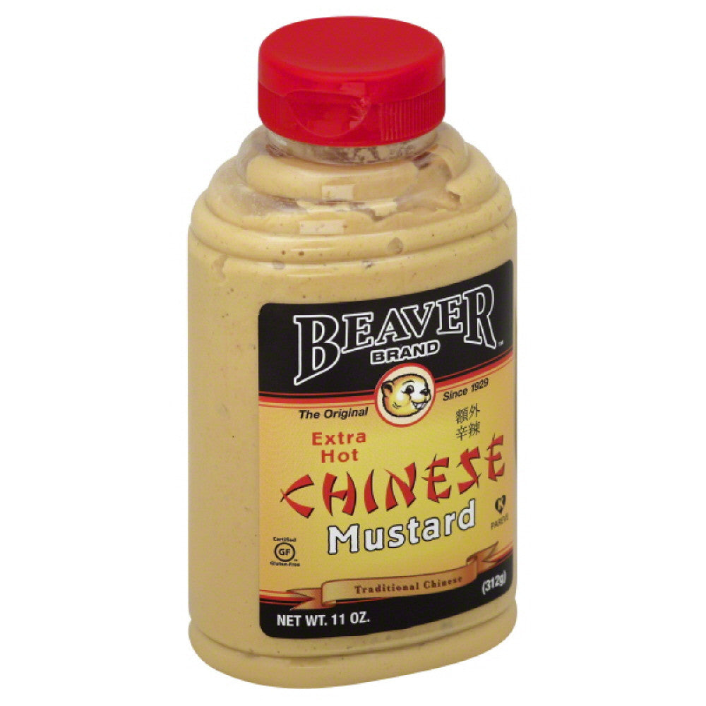 Beaver Brand Extra Hot Chinese Mustard, 11 Oz (Pack of 6)