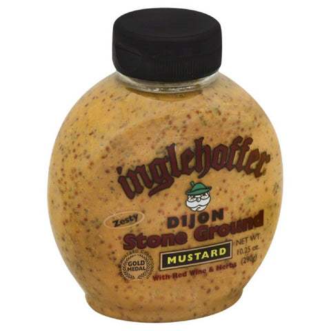 Inglehoffer Dijon Stone Ground Mustard with Red Wine & Herbs, 10.25 Oz (Pack of 6)
