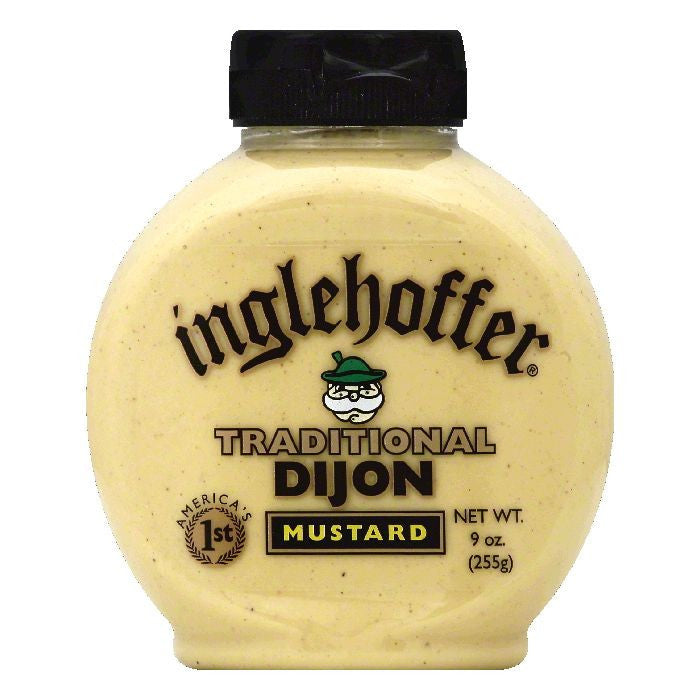 Inglehoffer Traditional Dijon Mustard, 9 OZ (Pack of 6)
