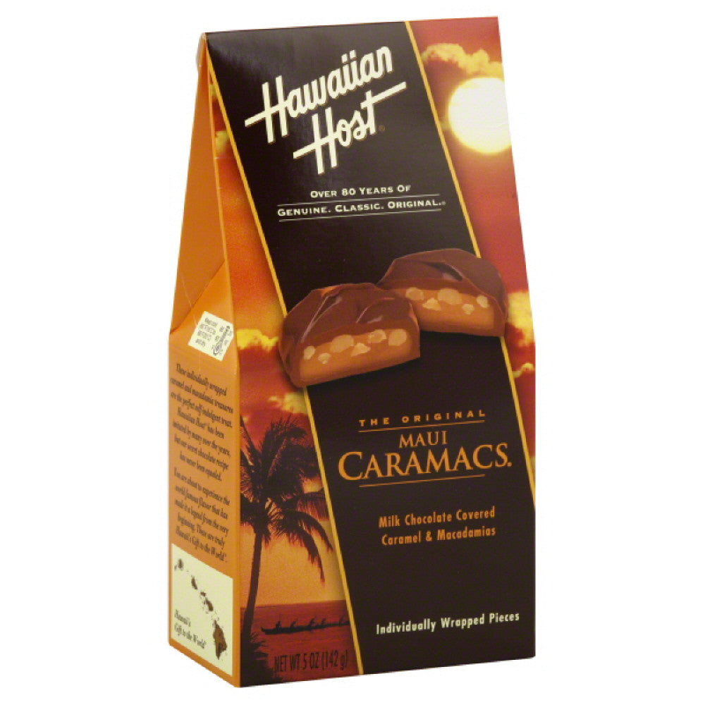 Hawaiian Host Maui Caramacs, 5 Oz (Pack of 6)