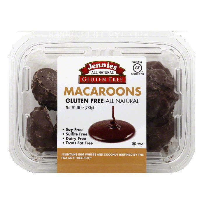 Jennies Chocolate Covered Macaroons, 10 Oz (Pack of 12)