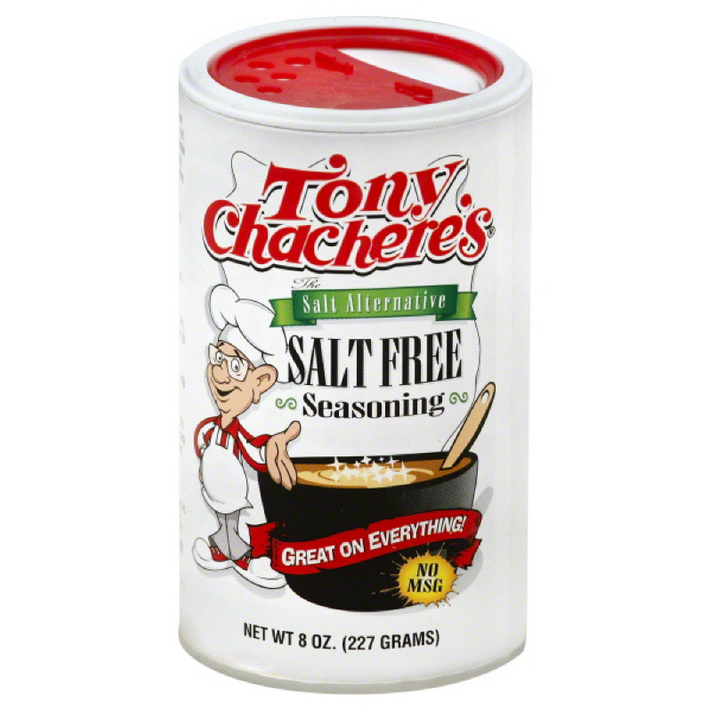 Tony Chacheres Salt Free Seasoning, 8 Oz (Pack of 6)