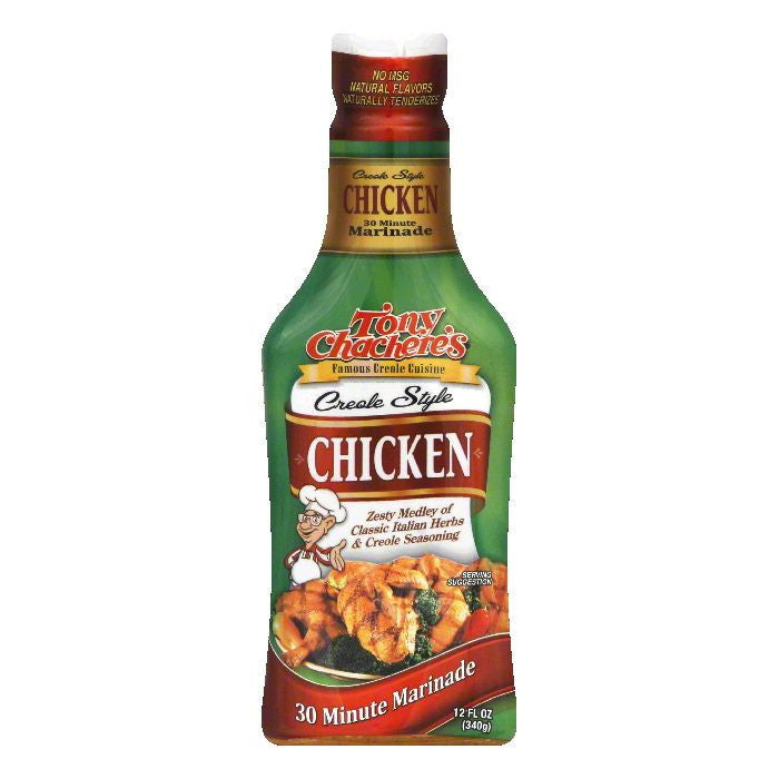 Tony Chacheres Creole Style Chicken 30 Minute Marinade, 12 OZ (Pack of 6)