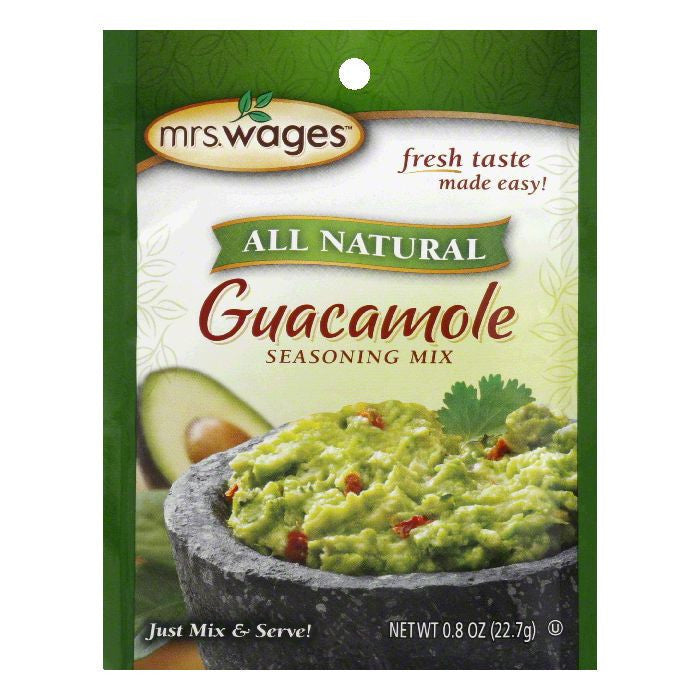 Mrs. Wages Guacamole Seasoning Mix, 0.8 OZ (Pack of 12)