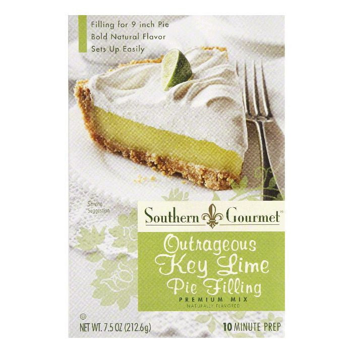 Southern Gourmet Key Lim Pie Filling Mix, 7.5 OZ (Pack of 6)