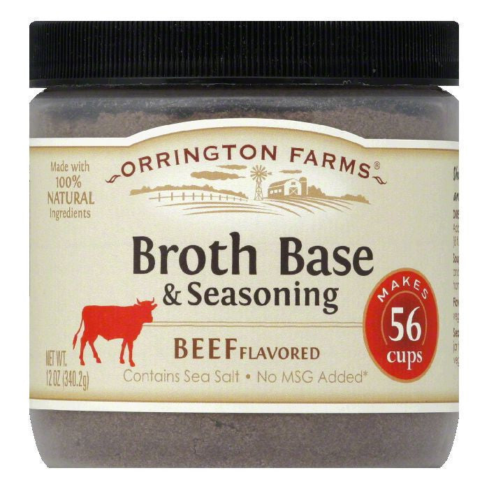 Orrington Farms Beef Flavor Granular Base, 12 OZ (Pack of 6)