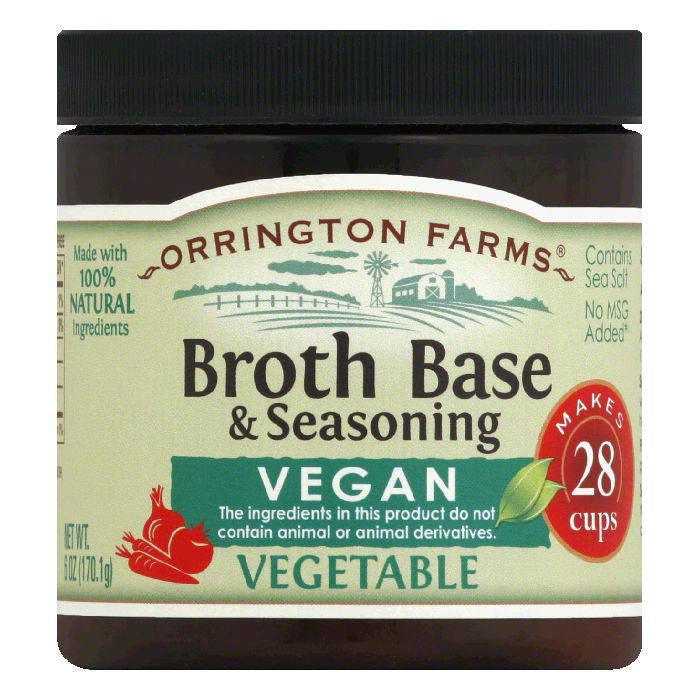 Orrington Farms Granular Nat Vegan Vegetable Flavor Base, 6 OZ (Pack of 6)