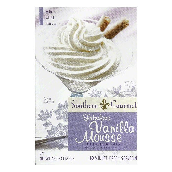 Southern Gourmet Fabulous Vanilla Premium Mousse Mix, 4 Oz (Pack of 6)