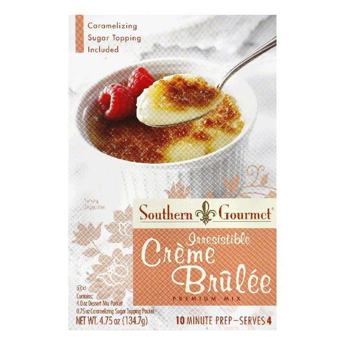 Southern Gourmet Irresistible Creme Brulee Premium Mix, 4.75 Oz (Pack of 6)