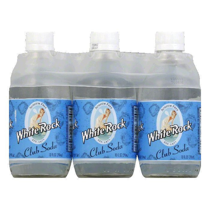 White Rock Club Soda 6 pack, 60 FO (Pack of 4)