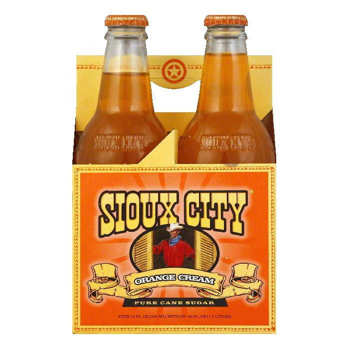 Sioux City Southern Swirl Orange Cream Soda 4 pack, 12 FO (Pack of 6)
