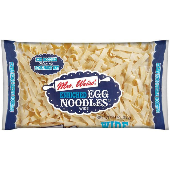 Mrs Weiss' Wide Egg Noodles 10 Oz Bag (Pack of 12)