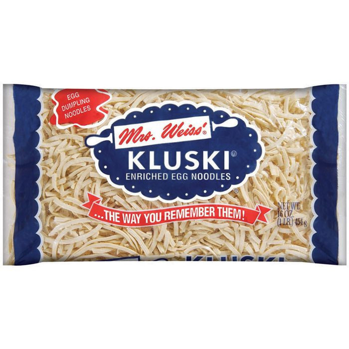 Mrs Weiss' Kluski Egg Noodles 16 Oz Bag (Pack of 12)