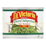 La Victoria Diced Jalapenos - Hot, 4 OZ (Pack of 24)