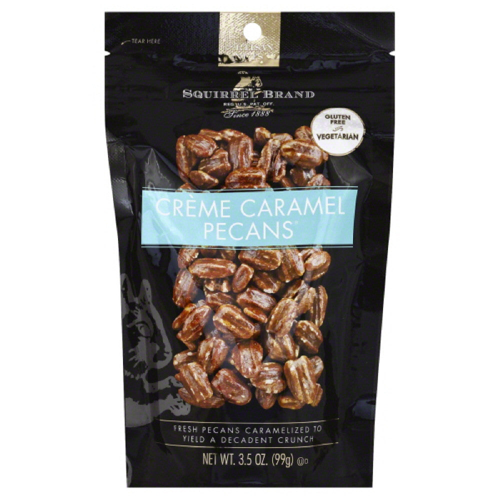 Squirrel Brand Creme Caramel Pecans, 3.5 Oz (Pack of 6)
