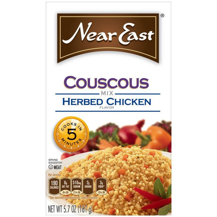 Near East Herbed Chicken Couscous Mix 5.7 Oz  (Pack of 12)