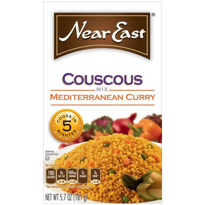 Near East Mediterranean Curry Couscous Mix 5.7 Oz  (Pack of 12)