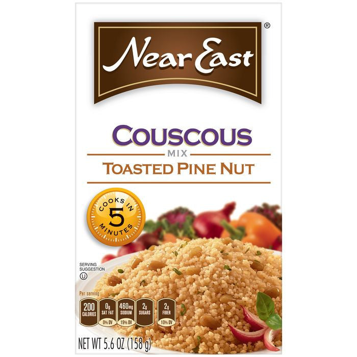 Near East Toasted Pine Nut Couscous Mix 5.6 Oz  (Pack of 12)