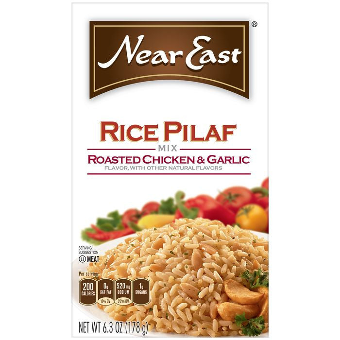 Near East Roasted Chicken & Garlic Rice Pilaf Mix 6.3 Oz  (Pack of 12)