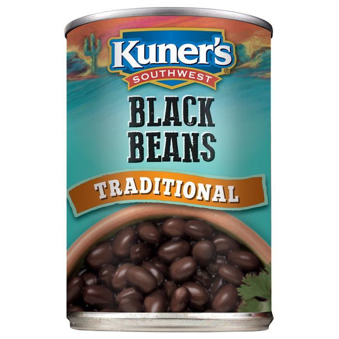 Kuner's Southwest Black Beans Traditional, 15oz (Pack of 12)