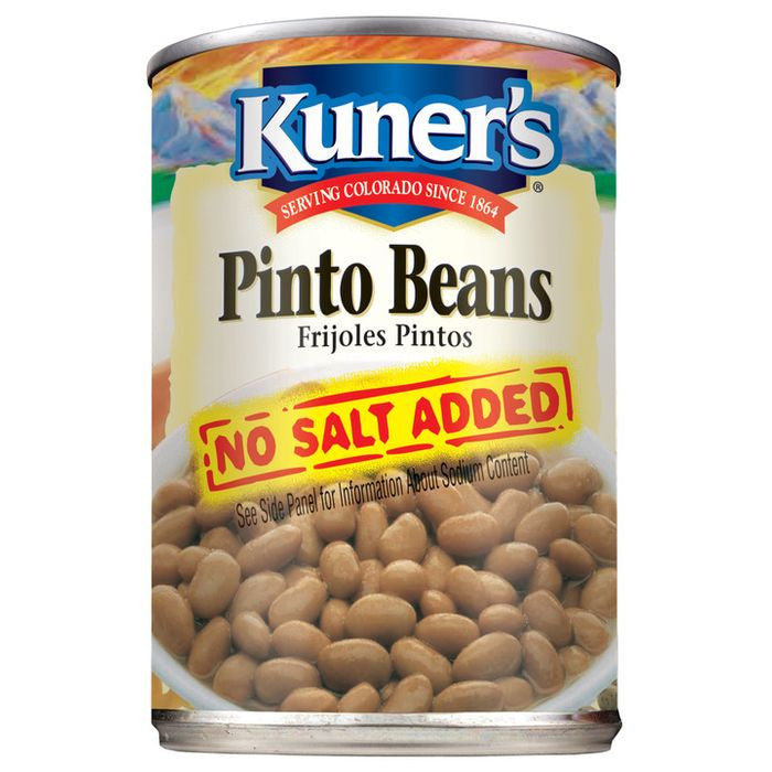 Kuner's Pinto Beans No Salt Added, 15oz (Pack of 12)