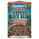 Kuner's Southwest Refried Black Beans w/Chiles, 16oz (Pack of 12)