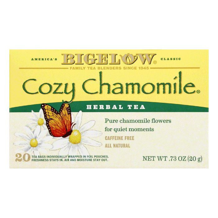 Bigelow Cozy Chammomile Herbal Tea, 20 BG (Pack of 6)