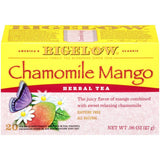 Bigelow Chamomile Mango Herbal Tea 0.96 Oz  (Pack of 6)