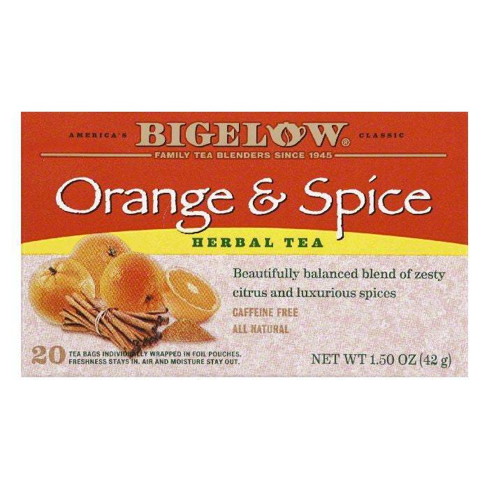 Bigelow Orange and Spice Tea, 20 BG (Pack of 6)