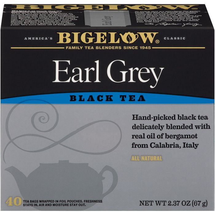 Bigelow Earl Grey Black Tea 40 ct  (Pack of 6)