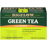 Bigelow Green Tea with Peach 0.91 Oz  (Pack of 6)