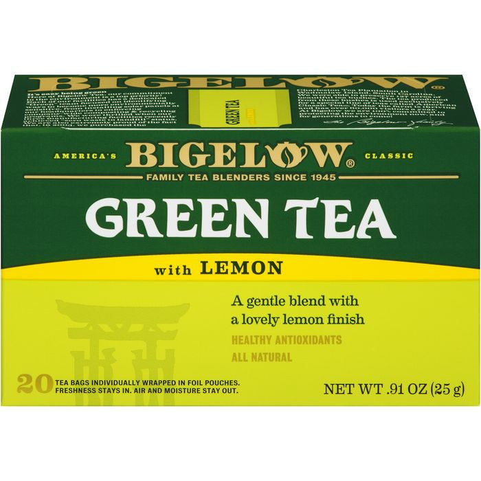 Bigelow Green Tea with Lemon 20 ct  (Pack of 6)