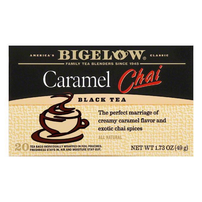 Bigelow Caramel Chai Black Tea Bags, 20 BG (Pack of 6)