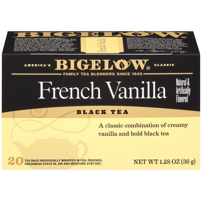 Bigelow French Vanilla Black Tea Blend 20 ct  (Pack of 6)