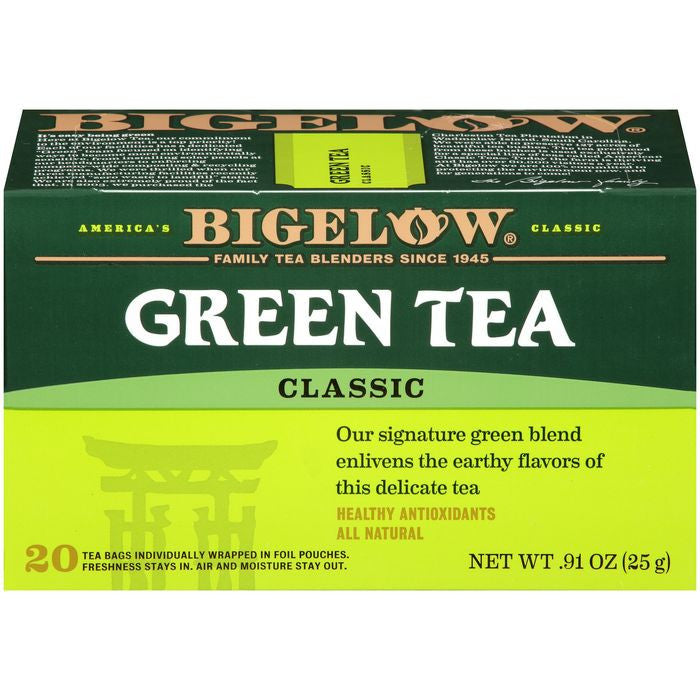 Bigelow Classic Green Tea 0.91 Oz  (Pack of 6)