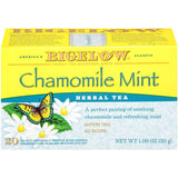 Bigelowe Chamomile Mint Herbal Tea Bags 1.09 Oz  (Pack of 6)